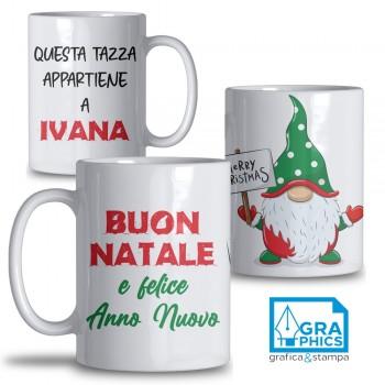 Tazza Natale Gnomo Felicione